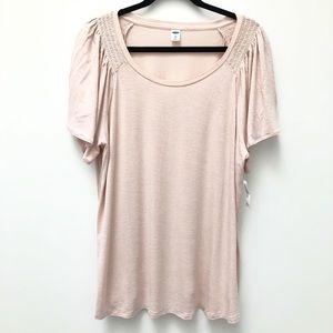 Old Navy soft pink flutter sleeve shirt